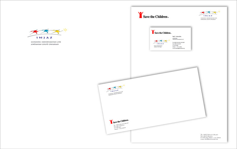 INJAZ Stationery design by Creations