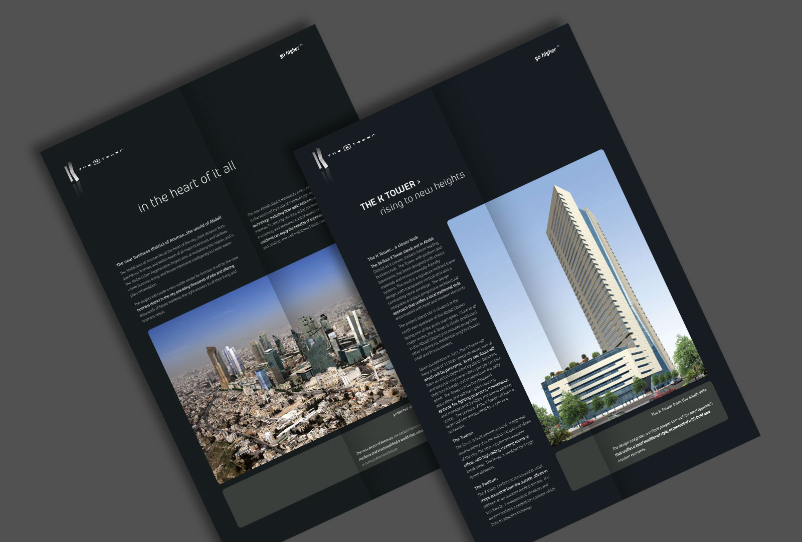The K Tower in Abdali brochure design by Creations