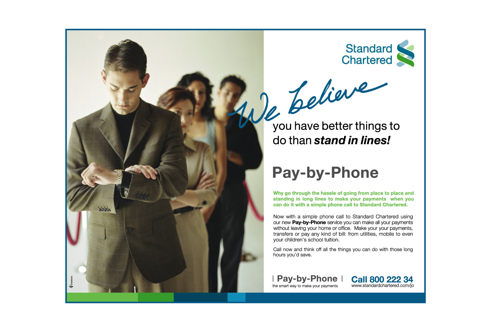 Standard Chartered Bank Pay by Phone Ad Campaign