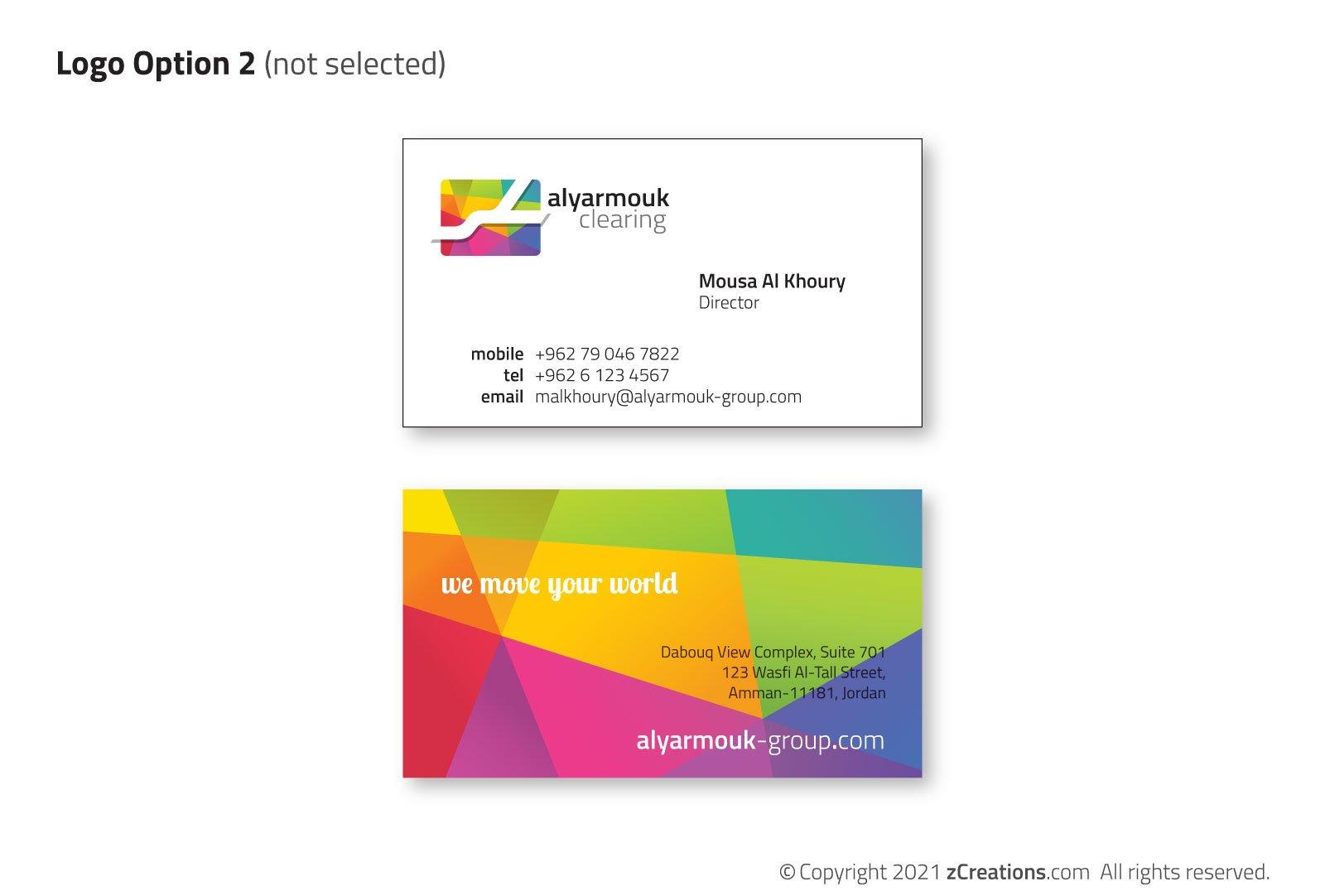Alyarmouk Group Alternate Logo Cards Design